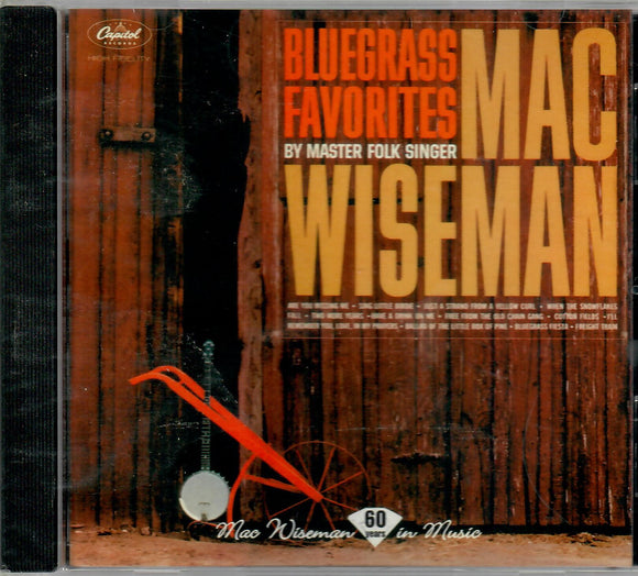 MAC WISEMAN 'BLUEGRASS FAVORITES' MME-70036