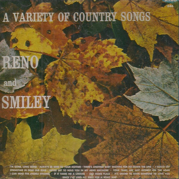 RENO & SMILEY 'A Variety of Country Songs' KCD-646