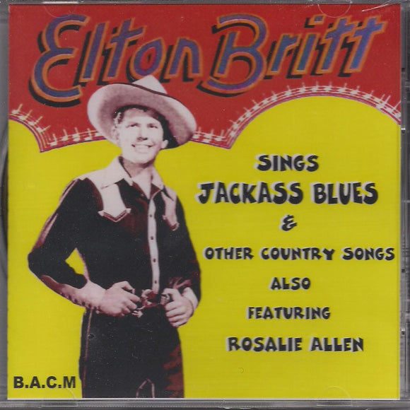 ELTON BRITT 'Sings Jackass Blues & Other Country Songs' BACM-086-CD