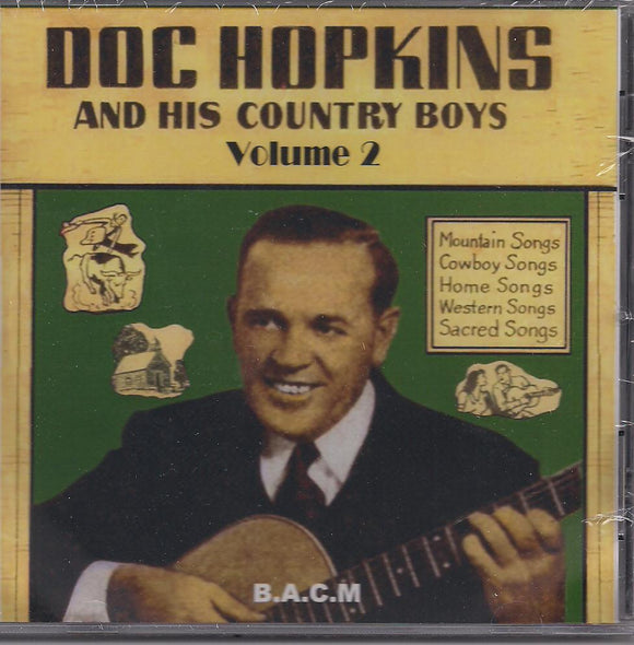 DOC HOPKINS 'and His Country Boys Volume 2' BACM-091-CD