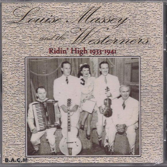 LOUISE MASSEY 'Ridin' High 1933-1941' BACM-173-CD