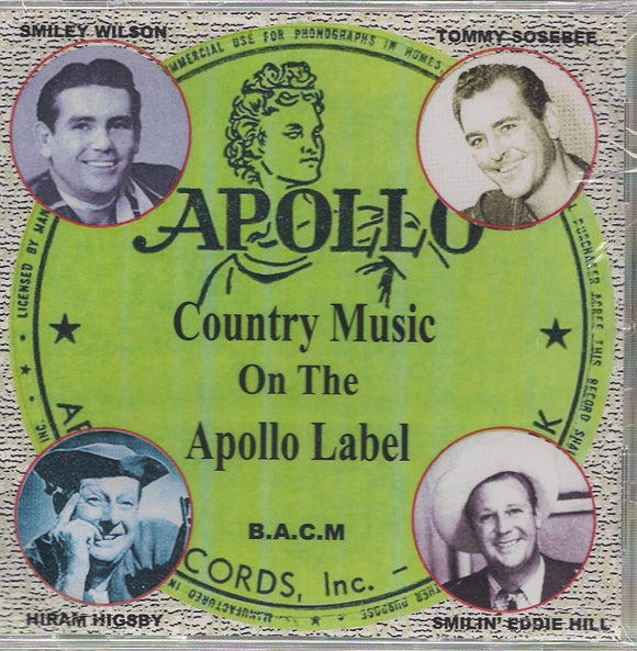 VARIOUS ARTISTS 'Country Music on the Apollo Label' BACM-352-CD