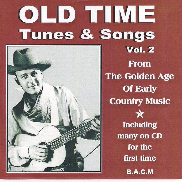 VARIOUS ARTISTS 'Old Time Tunes & Songs Vol. 2' BACM-364-CD
