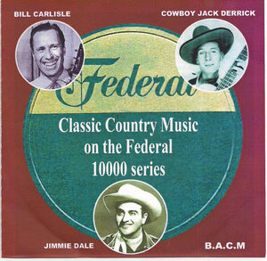 VARIOUS ARTISTS 'Classic Country Music on the Federal Label' BACM-394-CD