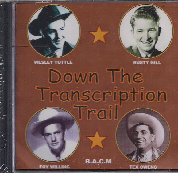 VARIOUS ARTISTS 'Down the Transcription Trail'
