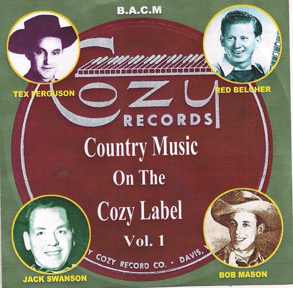 VARIOUS ARTISTS 'Country Music on the Cozy Label Volume 1' BACM-439-CD