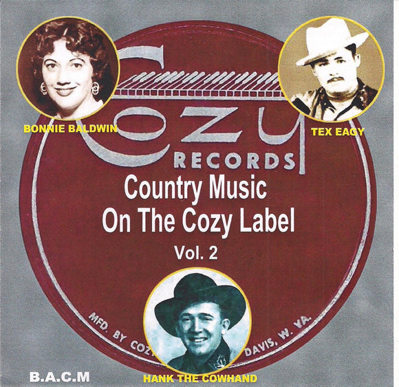 VARIOUS ARTISTS 'Country Music on the Cozy Label - Volume 2' BACM-446-CD