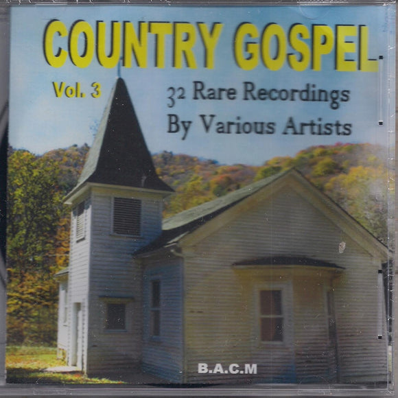VARIOUS ARTISTS 'Country Gospel Volume 3' BACM-482-CD