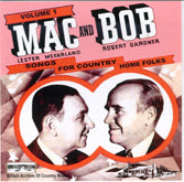 MAC & BOB 'Songs For Country Home Folks, Vol. 1' BACM-067-CD