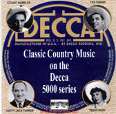 VARIOUS 'Classic Country Music On The Decca 5000 Series' BACM-077-CD
