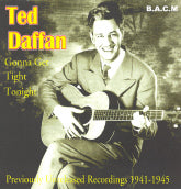 TED DAFFAN 'Gonna Get Tight Tonight' BACM-208-CD