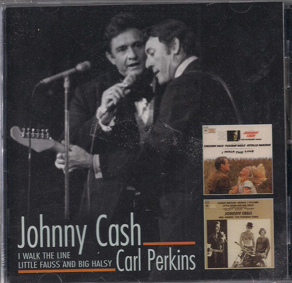 JOHNNY CASH/CARL PERKINS 'I Walk the Line/Little Fauss and Big Halsey' (2 CD) BCD-16130-CD
