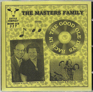 THE MASTERS FAMILY CATTLE-327-CD