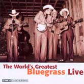 VARIOUS ARTISTS 'The World's Greatest Bluegrass Live' CMH-6297-CD