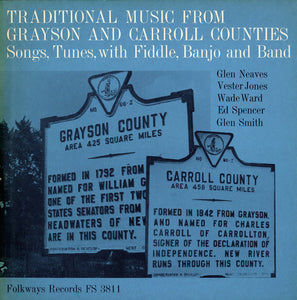 VARIOUS 'Traditional Music from Grayson and Carroll Counties, Virginia: Songs, Tunes with Fiddle, Banjo and Band' FS-3811-CD