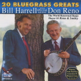 BILL HARRELL & DON RENO '20 Bluegrass Greats'    GUSTO-2121-CD