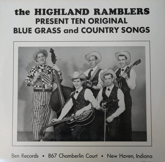 THE HIGHLAND RAMBLERS 'Present Ten Original Blue Grass and Country Songs' - LP
