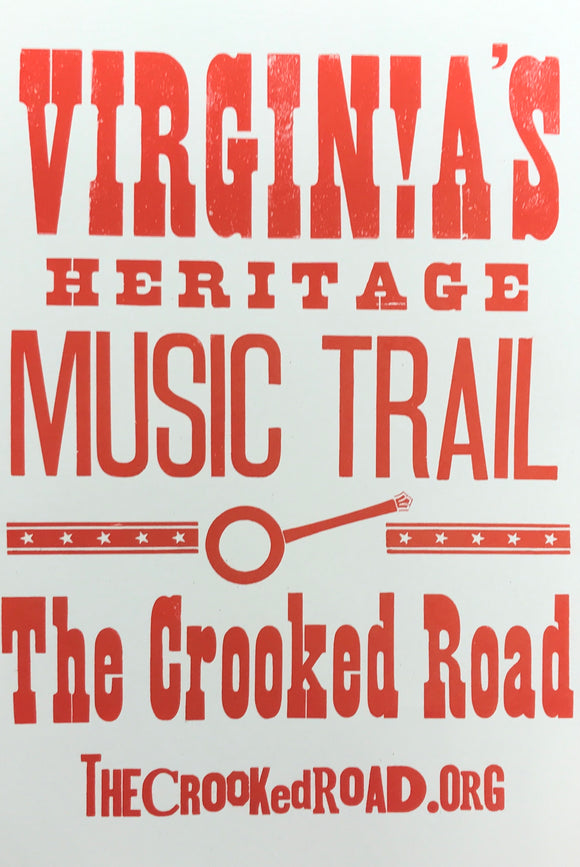 The Crooked Road - Letterpress Poster