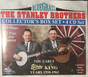 THE STANLEY BROTHERS 'The Early Years 1958-1961 Collectors Edition Box set 4CD' GUSTO-2207