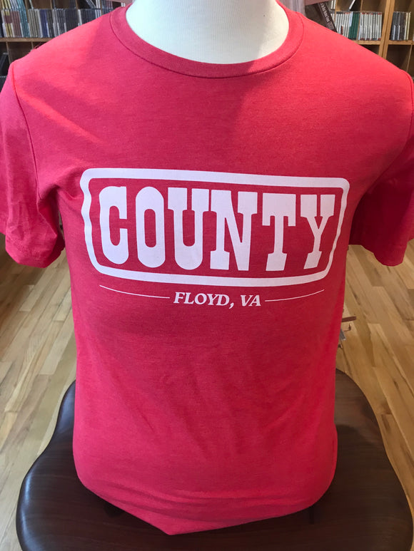 VINTAGE COUNTY LOGO T-SHIRT (RED)