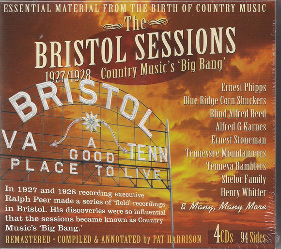 VARIOUS ARTISTS 'The Bristol Sessions 1927/28' JSP-77156-4CD
