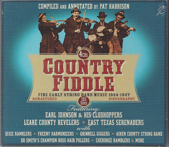 VARIOUS ARTISTS 'Country Fiddle - Fine Early String Band Music 1924-1937' JSP-77171-4CD