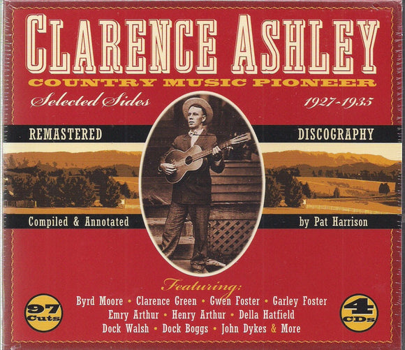 CLARENCE ASHLEY 'Country Music Pioneer 1927-1935' JSP-77186-4CD