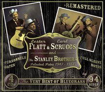 Flatt & Scruggs & Stanley Bros 'Selected Sides 1947-1953' 4CDs JSP-7724-4CD