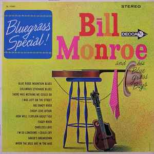 BILL MONROE AND HIS BLUE GRASS BOYS 'Bluegrass Special!' - LP