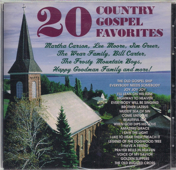 VARIOUS ARTISTS '20 Country Gospel Favorites'