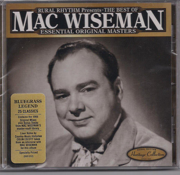 MAC WISEMAN 'The Best of ... Bluegrass Legend'