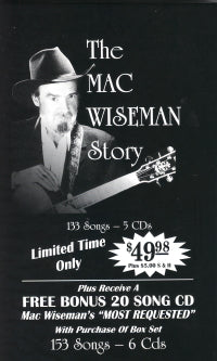 MAC WISEMAN 'The Mac Wiseman Story'  WISE-1091-CD   NO LONGER AVAILABLE