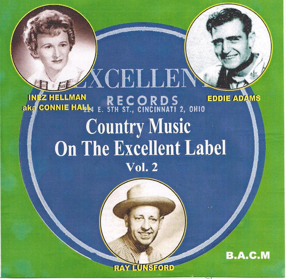 VARIOUS ARTISTS 'Country Music on the Excellent Label - Volume 2' BACM-473-CD