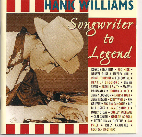 VARIOUS ARTISTS 'Tribute to Hank Williams' BCD 16286-CD