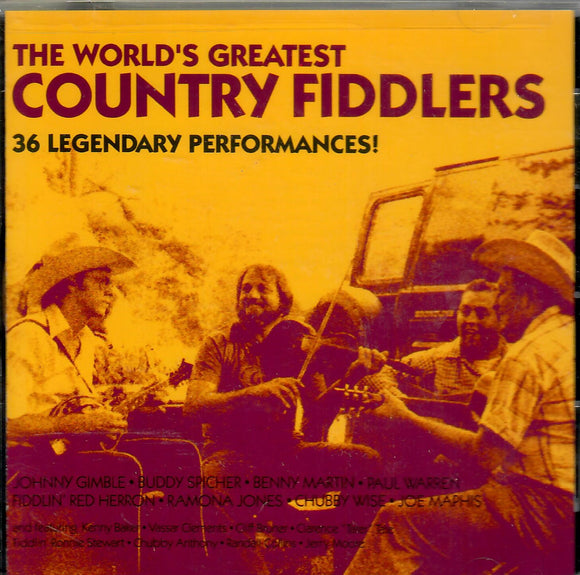 VARIOUS ARTISTS 'The World's Greatest Country Fiddlers'  CMH-5904-CD