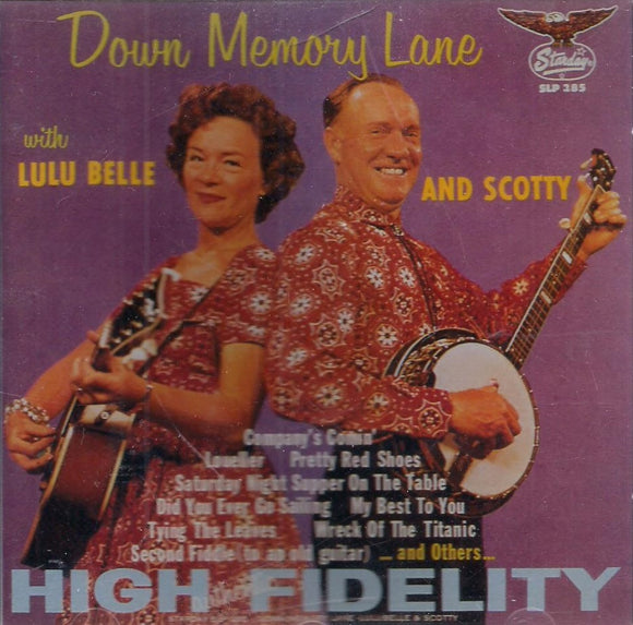LULU BELLE AND SCOTTY 'Down Memory Lane' SCD-285