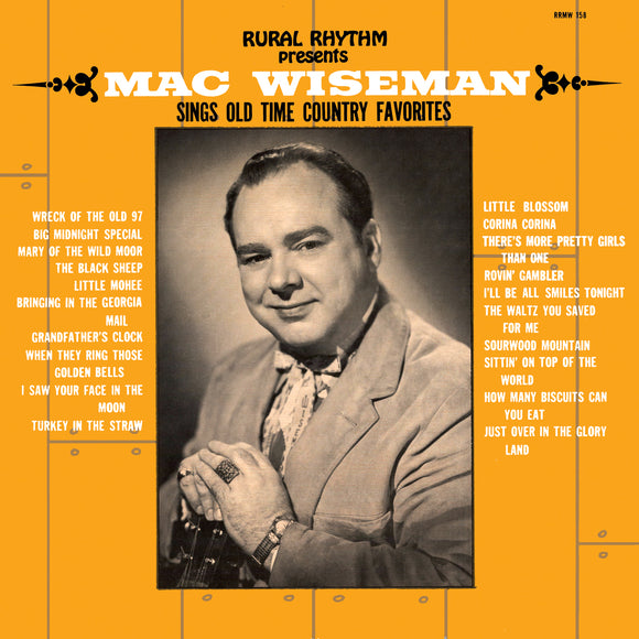 MAC WISEMAN 'Sings Old Time Country Favorites'