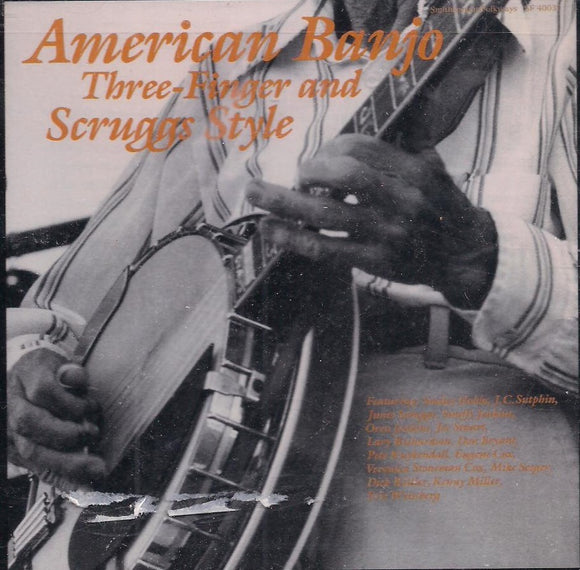 'American Banjo; Three-Finger and Scruggs Style' SF-40037