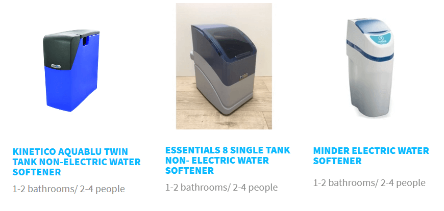 single tank water softener products