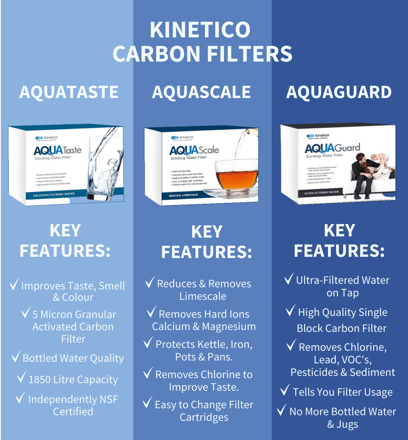 kinetico carbon water filter comparison inforgraphic
