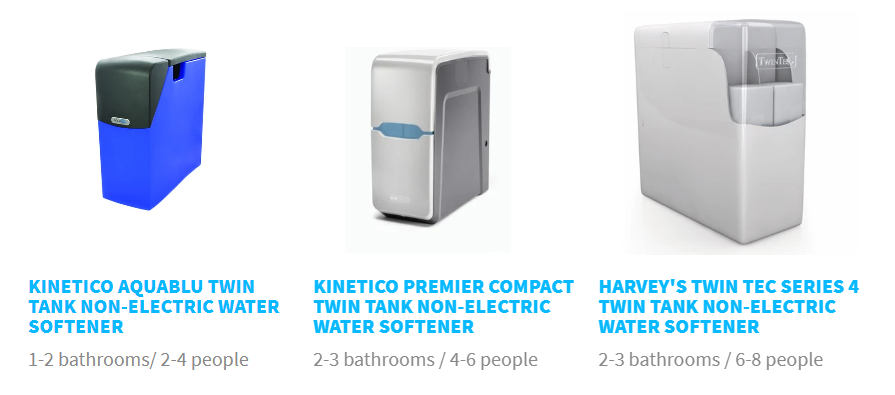 different types of electric and non electric softener