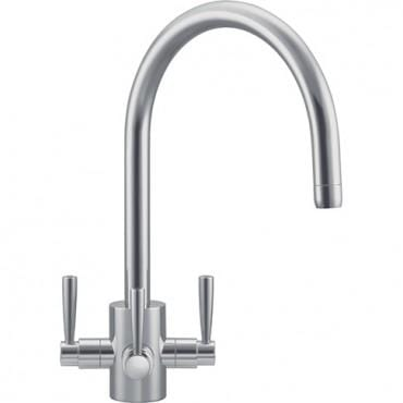 Olympus Franke 3 way Filterflow Tap Silk Steel