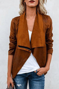 Fashion Suede leather Jacket