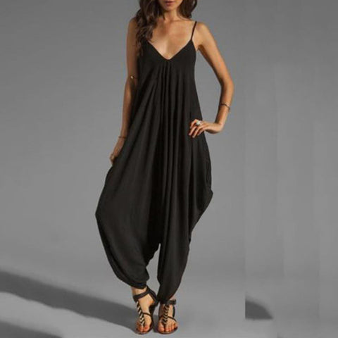 Sexy Low Chest V Collar Sexy Jumpsuit