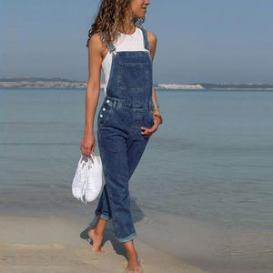 Stylish Pocket Casual Jumpsuit