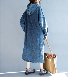 Casual Baggy Size Loose Jeans Maxi dress