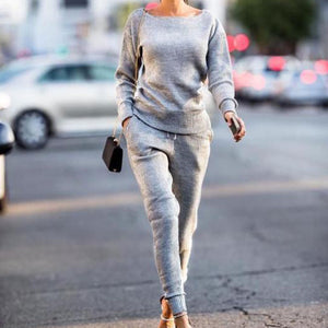 Leisure Round Collar Long Sleeve Jumpsuit Sports