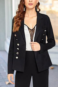 Chic Decorative Buckle Modern Suit Jacket