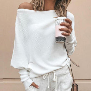 Fashion Casual Solid Color Plain Sweater