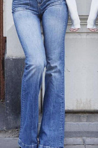 High Waist Flared Trousers Jeans Pants